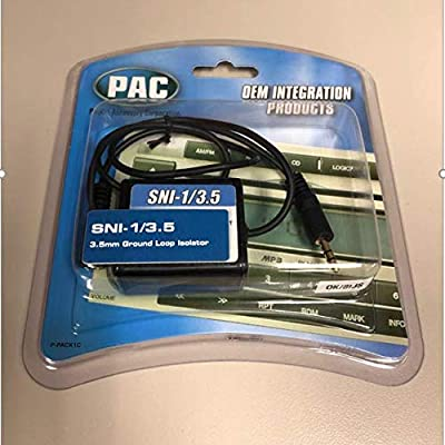 PAC SNI-1/3 5 3 5-mm Ground Loop Noise Isolator Works with iPod/Zune/iRiver  and Others