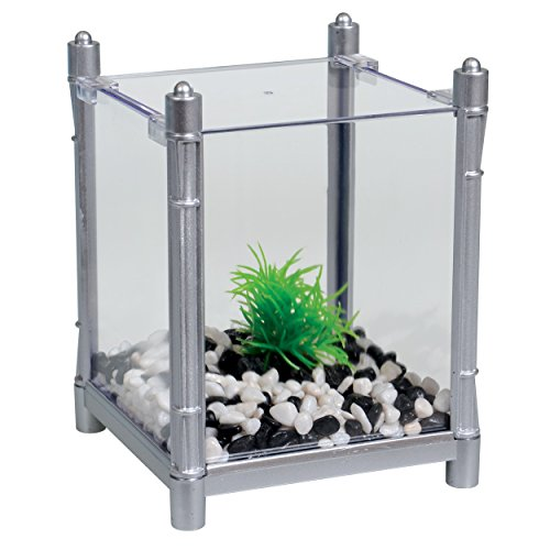 Aqua One 52068 Bettabloc Stackable Betta Kit, 1 L, Silver ()
