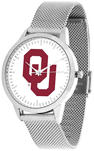 Oklahoma Sooners - Mesh Statement Watch - Silver Band