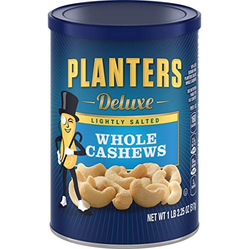 (Planters Deluxe Whole Cashews Lightly Salted, 1 lb and 2.25 oz Canister)