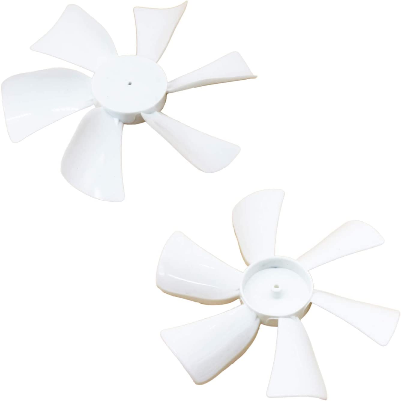 X-Haibei 2 Pack RV Fan Blade Replacement, 1/8 inch D-Bore, 6 inch whide, White for Trailer Camper Roof Vent