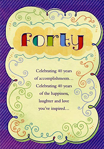 Amazon Designer Greetings Forty Colored Letters Die Cut