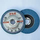 10pcs Premium FLAP DISCS 4-1/2 x 7/8 Zirconia 40 grit Grinding Wheel - Type 27 by H&M ABRASIVES-USA