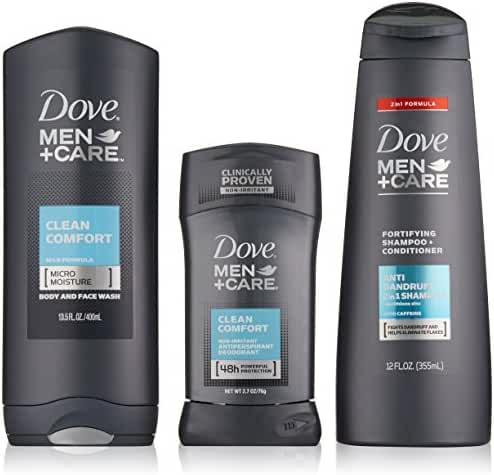 Dove Men+Care Mens+Care Deordorant, Mixed Clear Comfort Gift Box