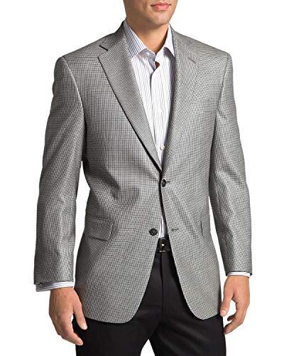 Hart Schaffner Marx Men's New York Worsted Wool Houndstooth Sportcoat 42L ()