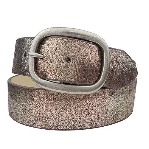 "1.5"" Width Soft Metallic Glitter Leather Belt"