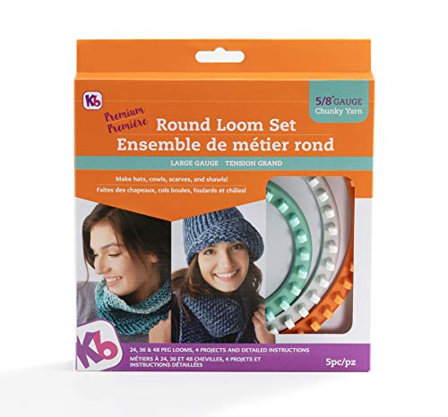 Authentic Knitting Board KB8150 'Premium' Chunky Round Knitting Loom Set by Authentic Knitting Board (Image #2)