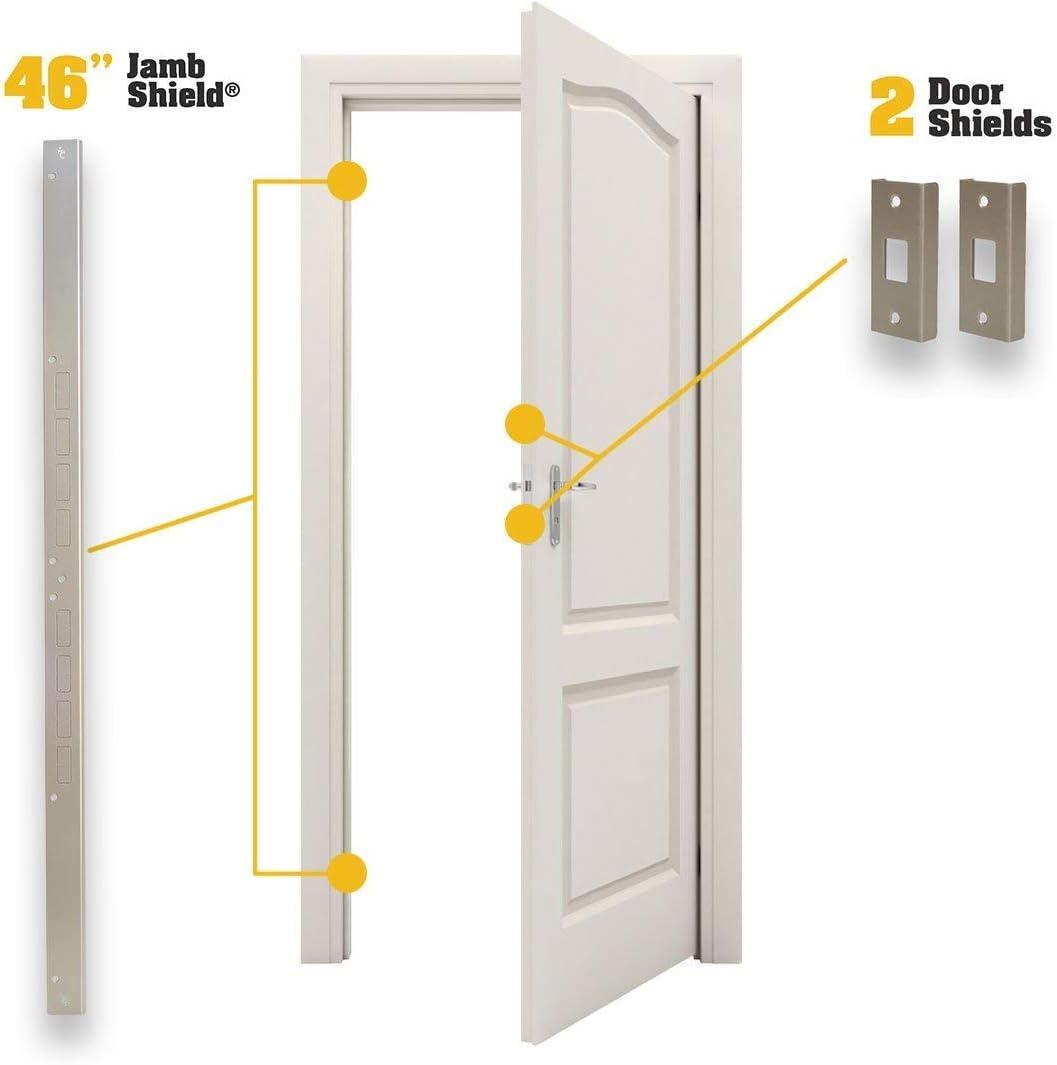 Armor de puerta mini – Kit de refuerzo de puerta en níquel ...