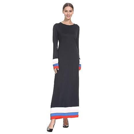Vestido de mujer de estilo moisés, estilo casual con falda larga ...