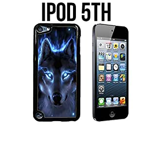 The Blue Wolf Custom made Case/Cover/skin FOR Apple iPod 5/5th Generation - Black - Plastic Snap On Case