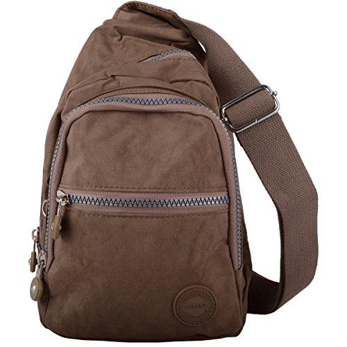 Mens/Womens Small Nylon Backpack/Ruck Sack/Shoulder Bag Taupe