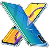 Efonebits Shock Proof Protective Soft Back Case Cover for Samsung Galaxy M30s (Transparent) [Bumper Corners with Air Cushion Technology]