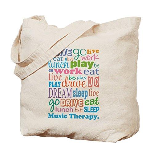 cfb3fa7a729 CafePress diseño de estampado de terapia musical Tote Bag – Natural gamuza  de bolsa de lona