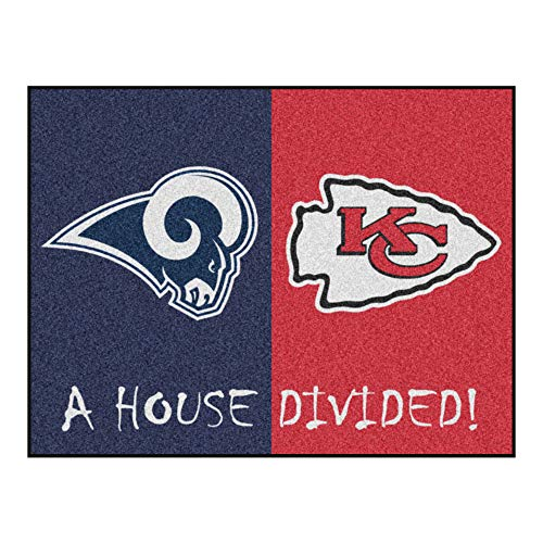 NFL House Divided - Rams/Chiefs Rug, 34