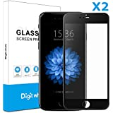 "2-Pack iPhone 6/6s Screen Protector, DIGITWHALE 3D Full Curve Soft Edge 0.2mm Tempered Glass Screen Protector for iPhone 6s and iphone 6 4.7""-Black"