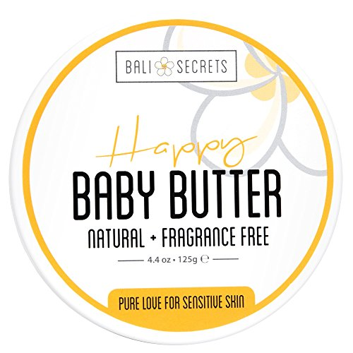 Happy Body Butter - For Mama & Baby - All Natural & Vegan - Fragrance-Free - Reduce Stretch Marks & Cellulite - Soothes Diaper Rash - Calms Irritated Skin - - Secret Butter Cocoa