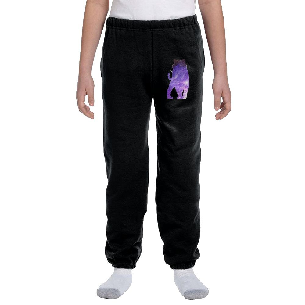 Space Cat Youth Activewear Suitable Joggers Sweatpants by Ogente