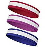 Meanch Wristband Perfect for Basketball Running Football Tennis- 6PCS/ 3PCS Terry Cloth Athletic Sweatbands Fits to Men and Women