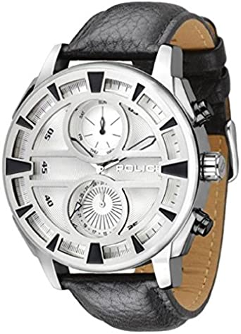 Police Reloj Análogo clásico para Hombre de Cuarzo con Correa en Cuero PL.14338JS_04