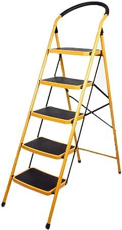 C-J-Xin Escalera de Cinco peldaños, Escalera Plegable de barandilla de Metal Exteriores Escalera multifunción de tamaño 49 * 103 * 151.5CM Escalera de casa: Amazon.es: Hogar