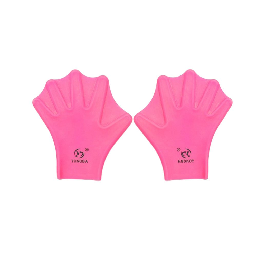 Water Gear Silicone Swim Webbed Gloves for Kids, 2pcs (Pink)