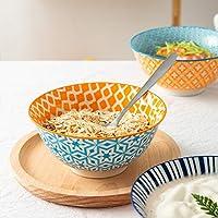 """Set of 6 porcelain 6/"""" Salad Bowl pâtes dessert Cereal Kitchen Serving Fruit Rice"""