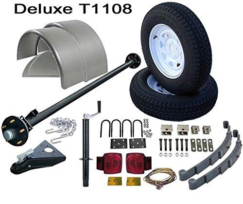 Utility Trailer Parts Kit 3500 lb, Single Axle Trailer 5' Wide, Model T1108 (Deluxe)