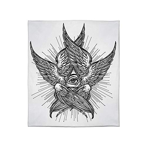 YOLIYANA Lightweight Blanket,Eye,for Bed Couch Chair Fall Winter Spring Living Room,Size Throw/Twin/Queen/King,All Seeing Eye of Providence Hand Drawn