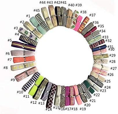 12 colores por 1 yarda Fe Foldover gomas el/ásticas para el pelo para beb/é ni/ña estilo 3 Cinta el/ástica para el pelo de 12 yardas