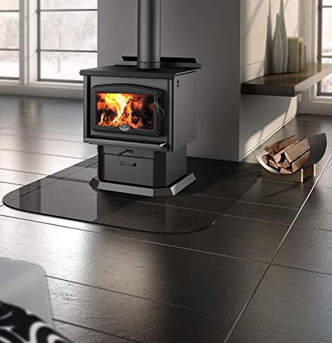 Osburn 1600 Wood Stove w/Black Door Overlay and Pedestal Kit (Osburn 1600 Wood Stove)