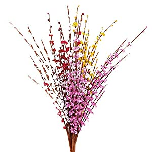 "MISSWARM 10 Pieces 29.5"" Long of Jasmine Artificial Flower Artificial Flowers Fake Flower for Wedding Home Office Party Hotel Restaurant Patio or Ya 94"