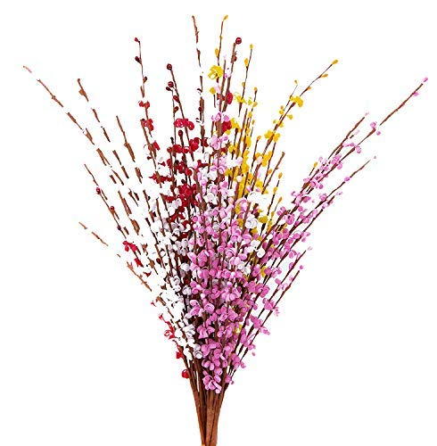"MISSWARM 10 Pieces 29.5"" Long of Jasmine Artificial Flower Artificial Flowers Fake Flower for Wedding Home Office Party Hotel Restaurant Patio or Yard Decoration(Mixed)"