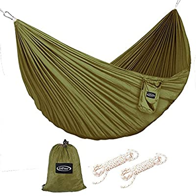 G4Free Portable Hammock - Lightweight Pure Color Nylon Fabric Parachute Hammock For outdoor Camping, Hiking,Travel, Hammock Ropes & Steel Carabiners included