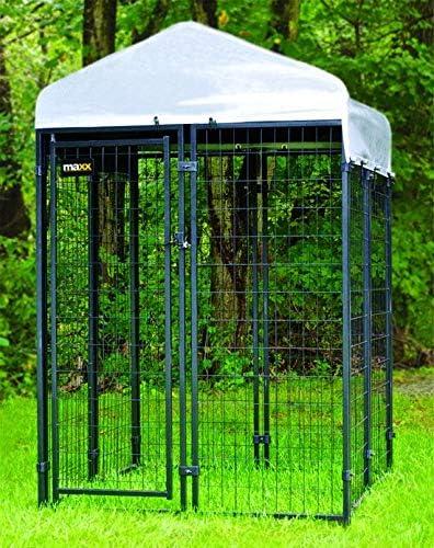 Maxx – hundezwinger para Exteriores con Techo y Puerta – Caseta Perro Jaula Parasol Perros Casa cabaña – 1,2 x 1,2 x 1,8 m: Amazon.es: Productos para mascotas