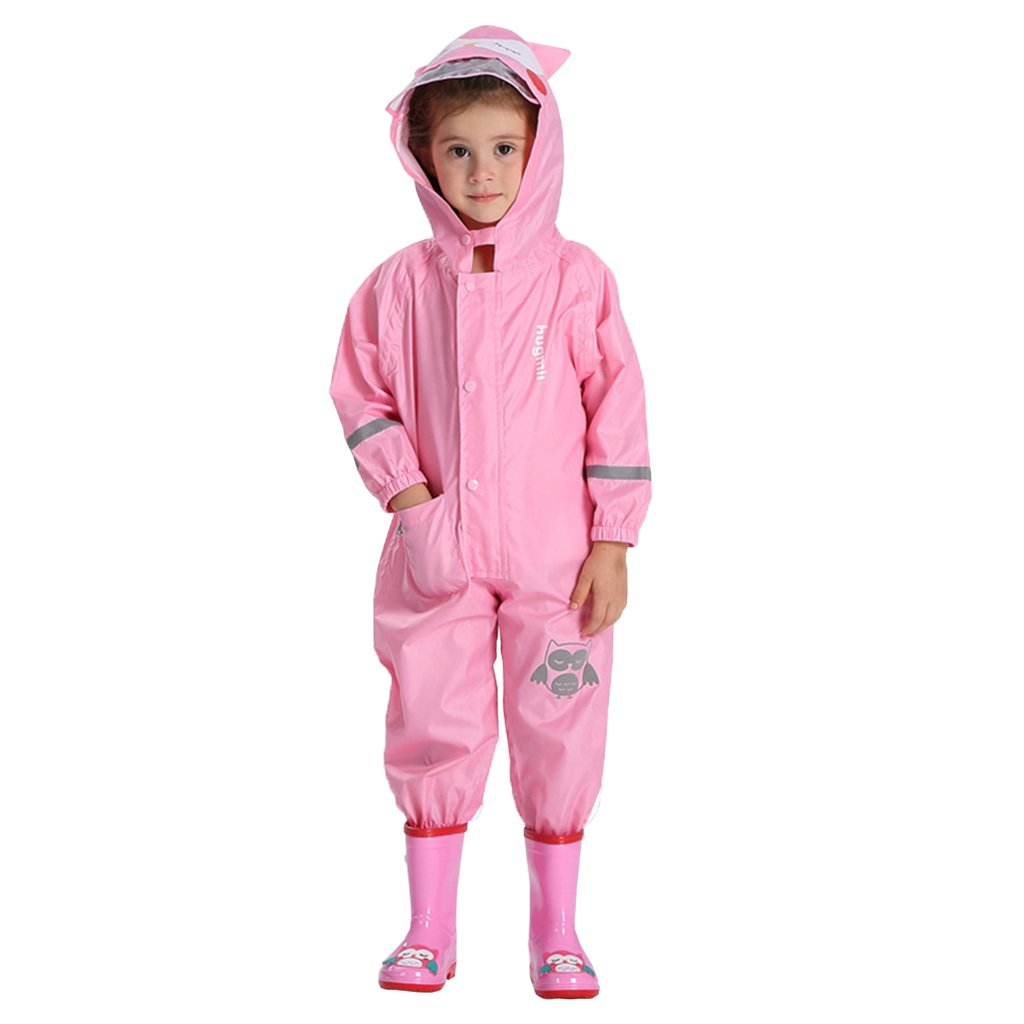 Vine Kids Rainsuit Waterproof Jumpsuit Coverall Raincoat All-in-One Suit Rainwear Vine Trading Co. Ltd K180511YY001V