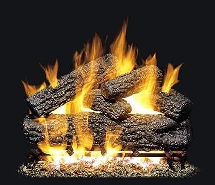 amazon com r h peterson pog4 30 30 post oak vented gas logs rh amazon com  rh peterson gas fireplace inserts