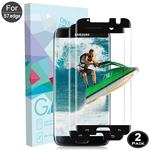 Samsung Galaxy S7 Edge Screen Protector,Airsspu Tempered Glass,9H Hardness,Bubble (2 Packs)