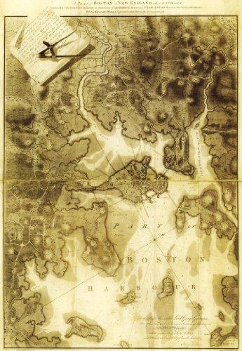 Boston Map vintage poster reprint