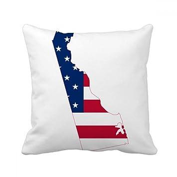 Amazon.com: Delaware Mapa de Estados Unidos estrellas ...