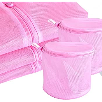 Set of 5 Mesh Laundry Bags for Bras ASIMOON Premium Durable Lingerie Bags for Bra, Blouse, Hosiery, Stocking, Underwear, Travel Laundry Bag with Rustproof Zipper