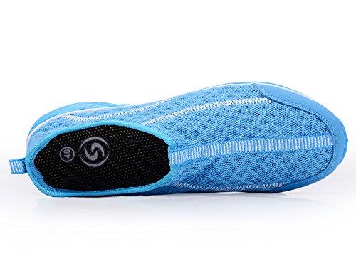 Schnell trocknende Aqua-Wasser-Schuhe der A-PIE Männer Blau