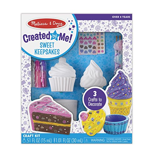 Melissa & Doug Decorate-Your-Own Sweets Set Craft Kit: 2 Treasures Boxes and a Cake Bank