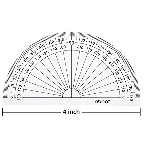 Amazon.com : eBoot 20 Pack Plastic Protractor, 180 Degrees ...