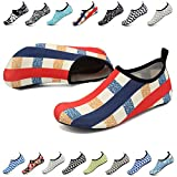 EASTSURE Snorkeling Shoes Water Sport Shoes Aqua Socks for Men Women Beach Swim Surf Yoga Red Blue 36-37