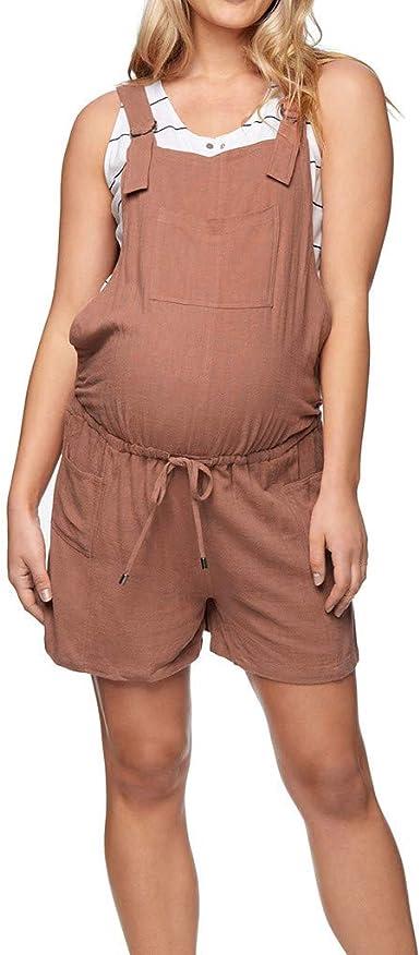 RISTHY Mono Embarazada Peto Premamá Monos de Maternidad ...
