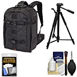 Lowepro Pro Runner BP 450 AW II DSLR Camera Backpack Case (Black) with Tripod + Accessory Kit