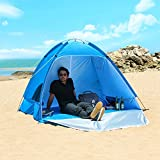 WolfWise UPF 50+ Easy Pop Up 2-3 Person Beach Tent Instant Sun Shelter Tent Sunshade Baby Canopy
