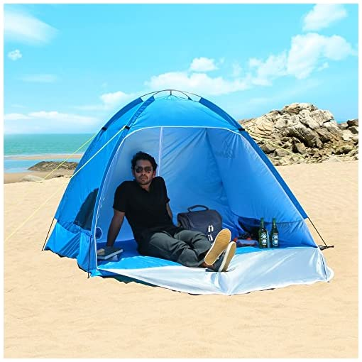 WolfWise-UPF-50-Easy-Pop-Up-3-4-Person-Beach-Tent-Instant-Sun-Shelter-Tent-Sunshade-Baby-Canopy