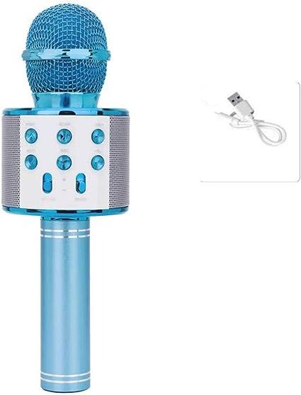 KTV micrófono audio, teléfono móvil karaoke, micrófono inalámbrico Bluetooth micrófono para niños sonido variable-5: Amazon.es: Instrumentos musicales