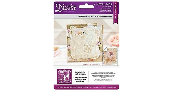 Die/'sire Create a Card Lace Xmas Die Emboss Metal 15cm Decorative Bell